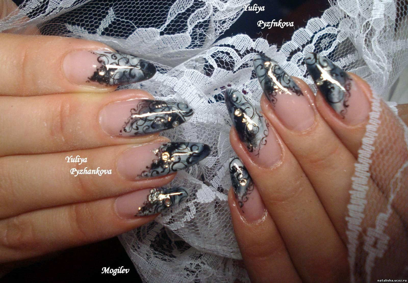 Дизайн ногтей с гипюром фото